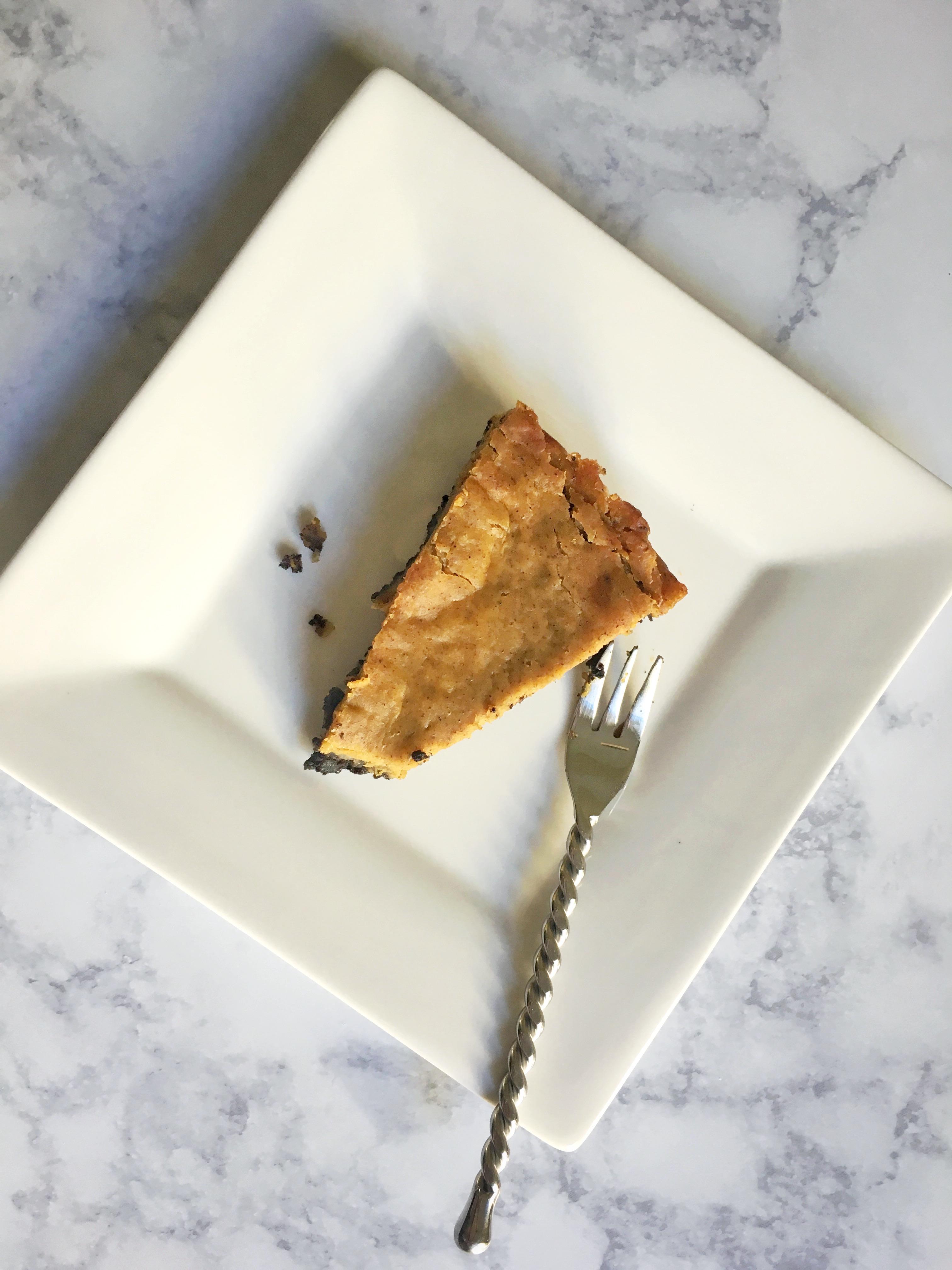 Chocolate Crusted Pumpkin Pie
