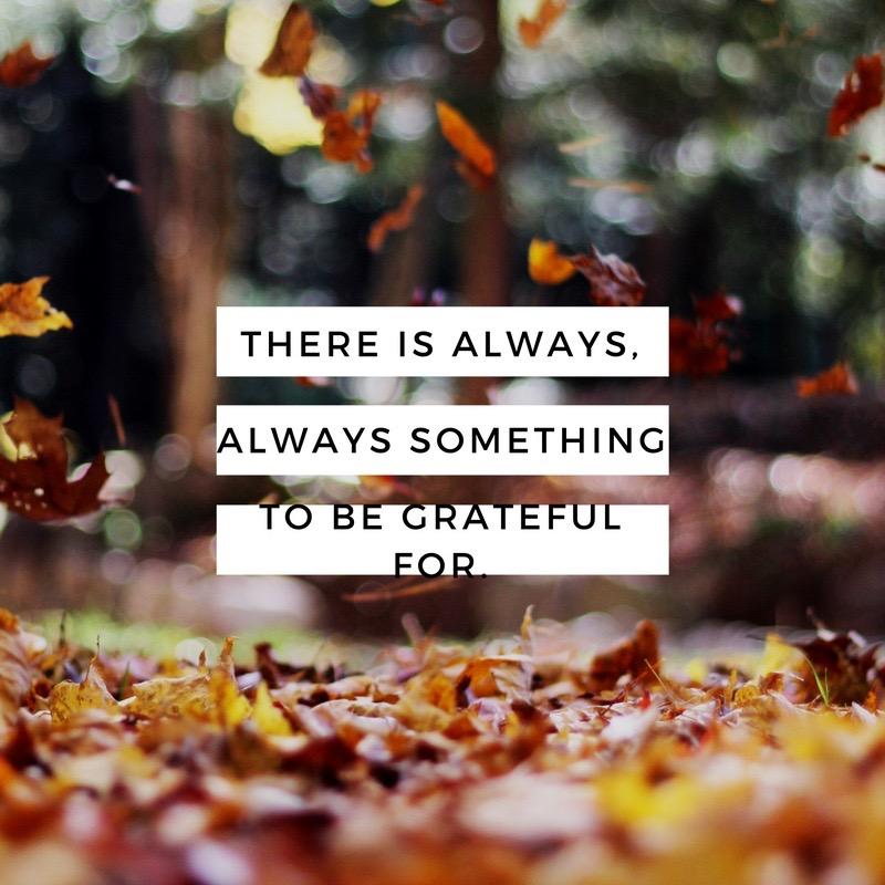 Gratitude~ Not Just at Thanksgiving