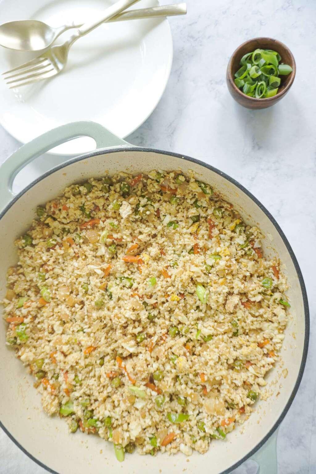 cauliflower rice in pan